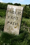 Public foot path Stock Photo