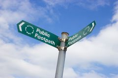 Public Footpatch Sign Royalty Free Stock Photos