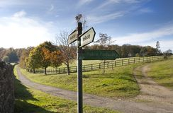 Public footpath and Bridleway sign Royalty Free Stock Image