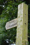 Public footpath direction signpost. Stock Photo