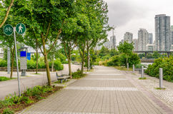 Public Footpath in Downtown Vancouver Royalty Free Stock Images