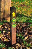 Public Footpath Sign. Directional sign for a public footpath stock images