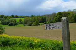 Public footpath sign. Stock Images
