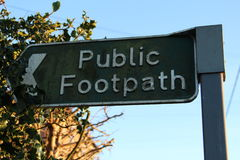 Public Footpath sign in England Stock Photos