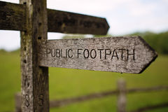 Public footpath Royalty Free Stock Photo