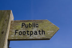 Public Footpath Sign Royalty Free Stock Images