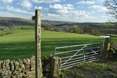 A public footpath sign in the Peak District Stock Image