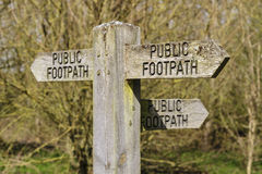 Public footpath sign 2 Stock Image