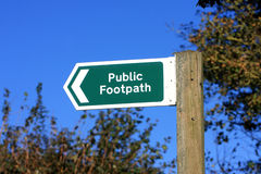 Public Footpath Sign Stock Photos
