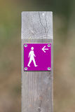 Public footpath sign Stock Images