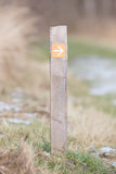 Public footpath sign. Route through dutch nature Stock Photo