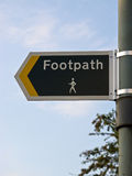 Public footpath sign Royalty Free Stock Photo