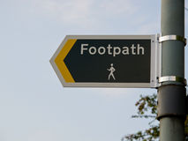 Public footpath sign Royalty Free Stock Photos