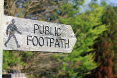 Public footpath Royalty Free Stock Photography
