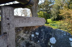 Public footpath sign. Royalty Free Stock Photos