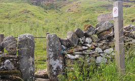 Public footpath sign in Yorkshire Stock Photography