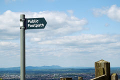 Public footpath signpost Royalty Free Stock Photography