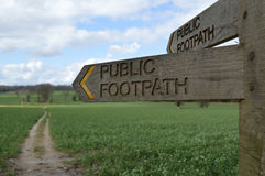 Public footpath signpost. Stock Photography