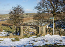 Public footpath in the South Pennines Royalty Free Stock Photo