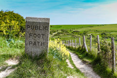 Public Footpath (Stone) Stock Photo