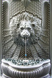 Public fountain of a lion shooting water Stock Photography
