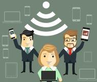 Public free Wi-Fi hotspot zone Royalty Free Stock Photo