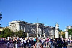 Public in front of Buckingham palace,Paralympic Stock Photos