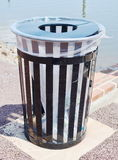 Public Garbage Can Stock Photography