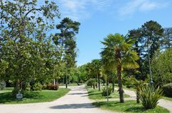 Park Beaumont in the French city Pau Royalty Free Stock Photography