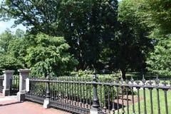 Public Garden in Boston, Massachusetts. USA stock image