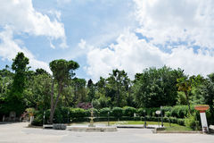Public garden in the center of Chieti (Italy). In a sunny day Stock Photos