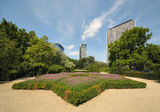 Public garden in centre of Brussels Stock Photography