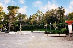 Public garden of Chieti (Italy). In autumn Stock Photo