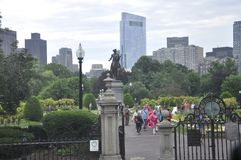 Boston Ma, 30th June: Public Garden from Downtown Boston in Massachusettes State of USA Royalty Free Stock Image