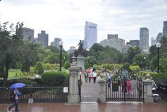 Boston Ma, 30th June: Public Garden from Downtown Boston in Massachusettes State of USA Royalty Free Stock Photography