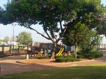 Public garden. A public park in my neighborhood in Rosh Ha`ayin, Israel Royalty Free Stock Images