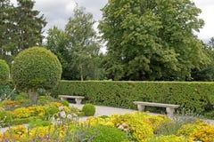 Public garden in summer Stock Photos