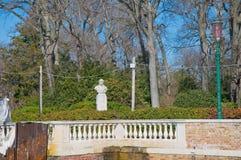 Public Garden at Venice, Italy Stock Photo