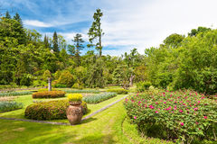 Public garden of Villa Taranto in Italy royalty free stock images