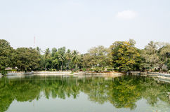 Public Gardens, Hyderabad. View across the large pond in the elegant Public Gardens in central Hyderabad, India Royalty Free Stock Images