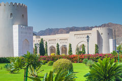 Public gardens nears the Sultan Palace, Muscat, Oman Royalty Free Stock Photography