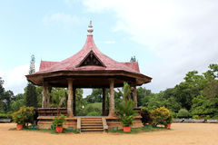 Public Gardens, Trivandrum. The Bandstand Portico at museum public gardens, in Trivandrum Royalty Free Stock Image