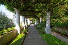 The public gardens of the Villa San Michele, Capri island, Mediterranean Sea, Italy Royalty Free Stock Photography