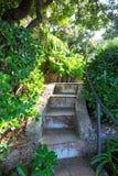 The public gardens of the Villa San Michele, Capri island, Mediterranean Sea, Italy Royalty Free Stock Photos