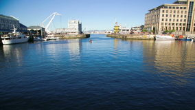 Public harbor stock video footage