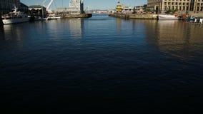 Public harbor stock video