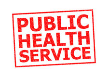 PUBLIC HEALTH SERVICE. Red Rubber Stamp over a white background vector illustration