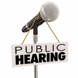 Public Hearing Information Meeting Share Opinion Feedback Stock Photos