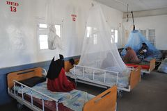 Public hospital in the city of Borama Stock Image