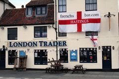 The `London Trader` - an old but very popular public house in Hastings Old Town, East Sussex, England royalty free stock image